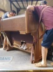 Погрузка пианино и подъем гидробортом